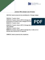 Calendario de Sesiones YPD