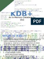 KDB+ Introduction