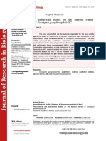 Phytochemical and antibacterial studies on the aqueous extract of Eucalyptus gomphocephala DC