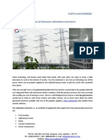 Implication of Galvanize Sub station Structures