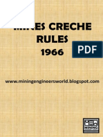 Mines Creche Rules 1966 - MEW