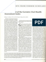 Development of the Geriatric Oral Health Assessment Index
