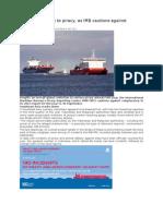 04-11-2015=PIRACY= Positive response to piracy- IMB PRC Report
