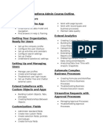 Salesforce Admin Course Outline