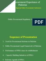 Pakistan PPRA Presentation 2014
