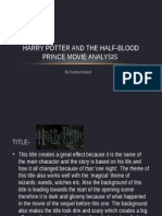 Movie Analysis- Harry Potter and the Half Blood Prince