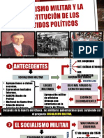 El Socialismo Militar y La Constitucion de Los Partidos Politicos