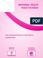4a. Monograph Maternal Health Policy in India-2012