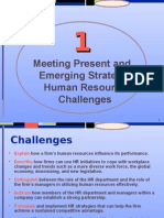 meeting present and emerging strategic HR Challanges