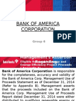 Bank of America assertion