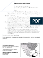 latin america test review-answer key