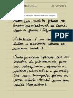 1º Lista de Exercícios Tubulação - Resolvida.pdf