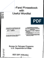 English Farsi Phrase book With Useful Wordlist