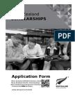 New Zealand Scholarships Application Form 2015