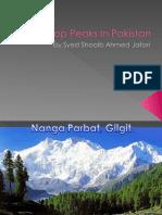 Top Peaks in Pakistan