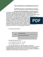 Analiza stabilitatii financiare