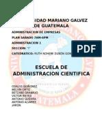 Escuela de La Administración Científica