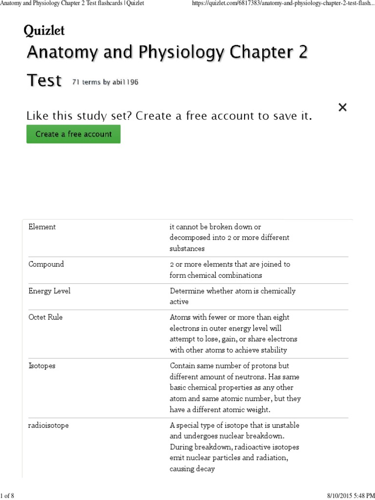 Hermosa Quizlet Anatomy And Physiology Chapter 4 Test Galería ...