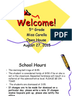 Welcome! Open house.ppt