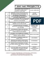 2015 DOT NET IEEE PROJECTS LIST.doc