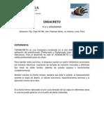 Tensacreto Catálogo de Servicios 2012