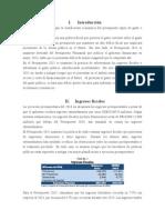 Resumen Ejecutivo Presupuesto 2015
