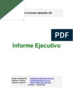 Reporte ejecutivo informática forense