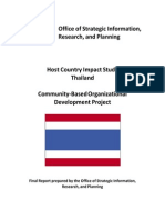 Peace Corps CBOD Report Host Country Impact Study