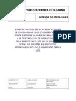 Solped Alquiler Contrapesos Para Certificacion Grua Puente Excellift Swl 20 Ton Stahl Serial No. 2687-2011, Equipment No. 00sma10ae001 (Rev01)