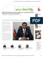 Malawi Ambassador to Japan, Ngwenya Successfully Defends PhD Thesis at University of Bolton _ Malawi Nyasa Times – Malawi Breaking News in Malawi