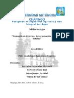 Protocolo Practica Determinación de Sólidos Totales en Aguas Residuales