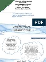 Elementos Conceptuales Sobre Las Comunidades Virtuales Para El Aprendizaje y La Socializacion