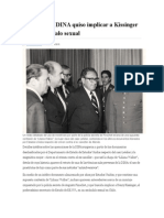 El Día Que La DINA Quiso Implicar a Kissinger en Un Escándalo Sexual