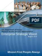NNSA Enterprise Strategic Vision -- August 2015