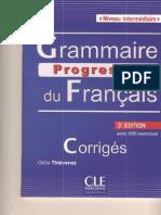 Corrigés GR Progressive Interm 3rd