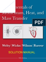 Heat and Mass Transfer by James Welty Charles Wicks Solution Manuals