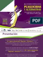 Congreso Internacional Plaguicidas y Alternativas