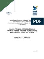 Primer Informe de México Al Protocolo de San Salvador Derecho a La Salud