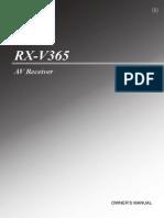 RX V365 Manual