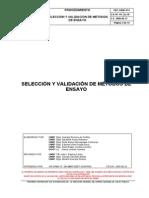 PRT-CNSP-011 Validación de Métodos de Ensayo