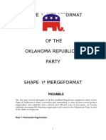 Oklahoma Republican Party Rules (last revised 2003)