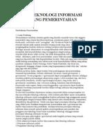 Skripsi Peran Teknologi Informasi Di Bidang Pemerintahan