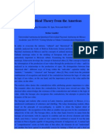 For a Critical Theory from the Americas