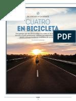 Cuatro en bicicleta
