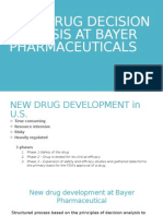 NEW DRUG DECISION ANLAYSIS AT BAYER PHARMACEUTICALS.pptx