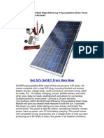 Sunforce 39810 80-Watt High-Efficiency Polycrystalline Solar Panel With Sharp Module