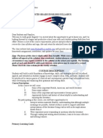 tenth grade english syllabus