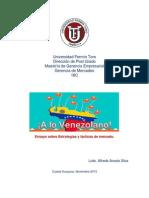 ¡A Lo Venezolano!  Ensayo de Mercadeo
