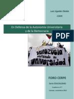 EDUCALIDAD Nº 7- Defensa de La Autonomia Universitaria - Luis Ugalde