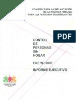 Conteo de personas sin hogar 2007